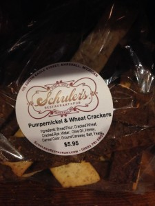 House Made Crackers for purchase.